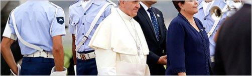 Brasil recibe al Papa Francisco en hist�rica gira por la Juventud