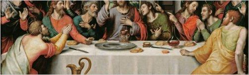Jueves Santo. Jes�s se reune con sus disc�pulos para compartir pan y vino